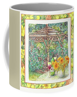 Illustrated Sunflower Picnic Coffee Mug