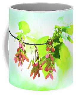 Impressionistic Maple Seeds And Foliage Coffee Mug