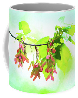 Impressionistic Maple Seeds And Foliage Coffee Mug