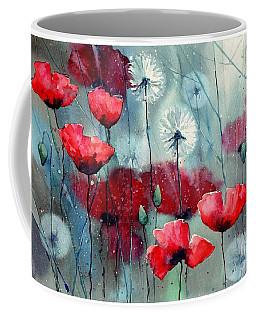 In The Night Garden - Rising Poppies Coffee Mug