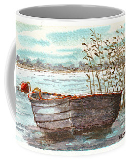 Coffee Mug featuring the painting In The Reeds by Barry Jones