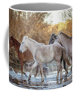 Coffee Mug featuring the photograph In The River by Mary Hone