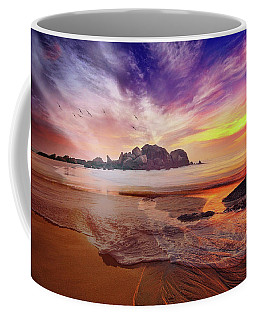 Incoming Tide At Sunset Coffee Mug
