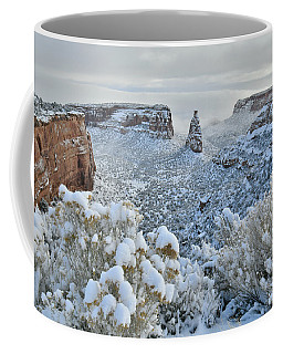 Independence Monument In Snow Coffee Mug