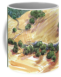 Coffee Mug featuring the painting Indian Creek Valley From Shell Ridge by Judith Kunzle