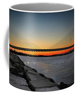 Coffee Mug featuring the photograph Indian River Bridge Over Swan Lake by Bill Swartwout Fine Art Photography