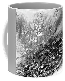 Indistinct - Gray Abstract Art Coffee Mug