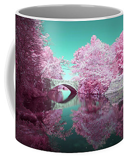 Coffee Mug featuring the photograph Infrared Bridge by Brian Hale
