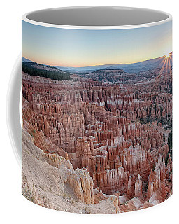 Coffee Mug featuring the photograph Inspiration Point Sunrise Bryce Canyon National Park Summer Solstice by Nathan Bush