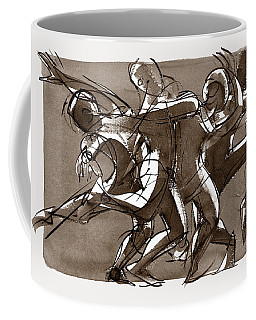 Coffee Mug featuring the digital art Interaction by Judith Kunzle