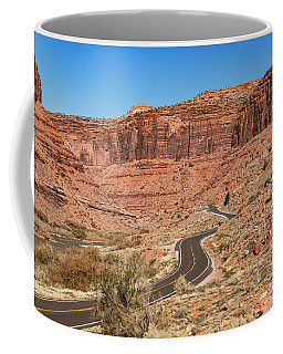 Coffee Mug featuring the photograph Into The Red Cliffs by Andy Crawford
