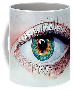 Coffee Mug featuring the painting Intuition by Michal Madison