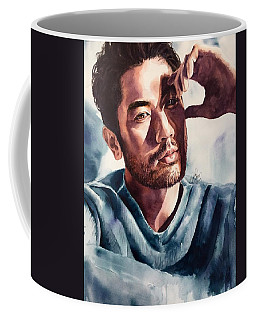 Coffee Mug featuring the painting Intuitive Faith by Michal Madison