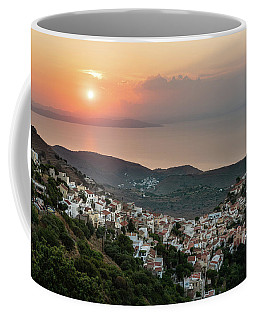Ioulis Town Sunset, Kea Coffee Mug