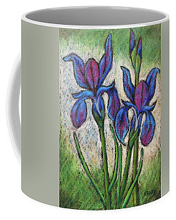 Irises In Bloom Coffee Mug