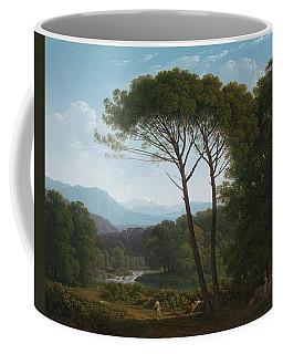 Italianate Landscape With Pines. Italiaans Landschap Met Pijnbomen. Coffee Mug