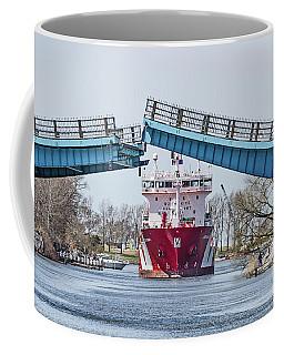 Iver Bright Tanker Visits Manistee Coffee Mug