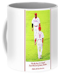 J Roll And The Big Piece, Ryan And Rollins, Phillies Greats Coffee Mug