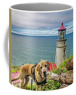 Jackson At Heceta Head Lighthouse Coffee Mug