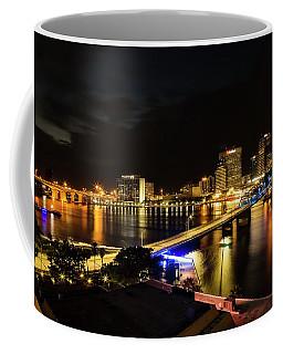 Jacksonville Skyline By Night Coffee Mug