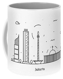 Jakarta Cityscape Travel Poster Coffee Mug