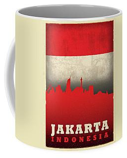 Jakarta Indonesia World City Flag Skyline Coffee Mug