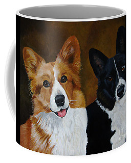 James And Joy Custom Portrait Painting Coffee Mug