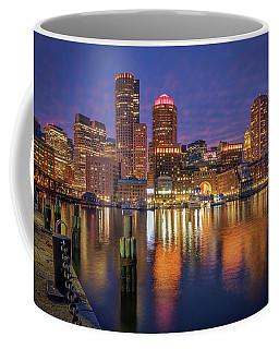 January Sunset At Fan Pier Coffee Mug