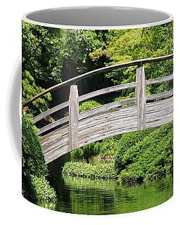 Coffee Mug featuring the photograph Japanese Garden Arch Bridge In Springtime by Debi Dalio