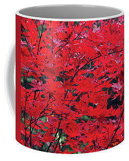 Coffee Mug featuring the photograph Japanese Maple In The Fall by Trina Ansel
