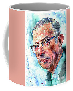 Jean-paul Sartre Portrait Coffee Mug