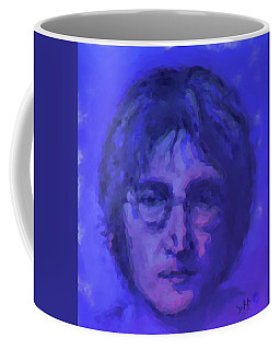 John Lennon Study In Blue Coffee Mug