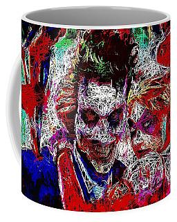 Coffee Mug featuring the mixed media Joker And Harley Quinn 2 by Al Matra