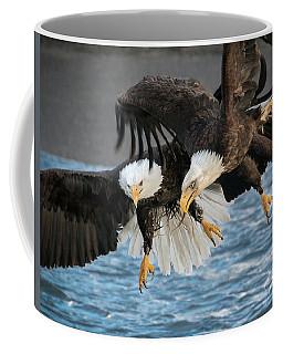 Jousting Eagles Coffee Mug