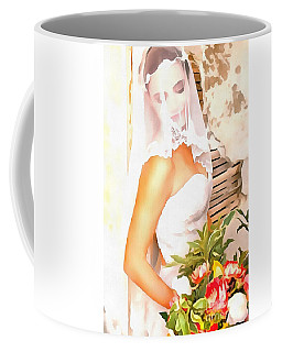 Coffee Mug featuring the painting June Bride by Catherine Lott