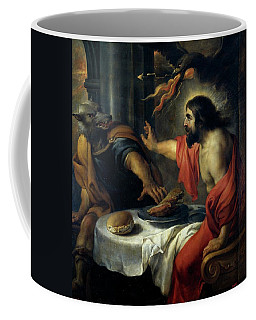 'jupiter And Lycaon', 17th Century, Flemish School, Oil On Canvas, 120 Cm X 115 Cm... Coffee Mug