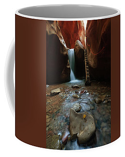 Coffee Mug featuring the photograph Kanarraville Falls by Tassanee Angiolillo