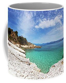 Kanoni Beach In Corfu Island Coffee Mug