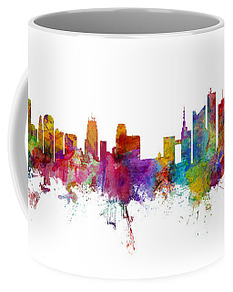 Kansas City And Brussels Skyline Mashup Coffee Mug