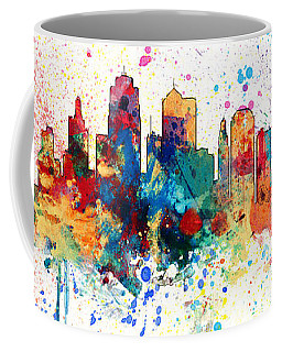 Kansas City Missouri Skyline Panoramic Spash Coffee Mug