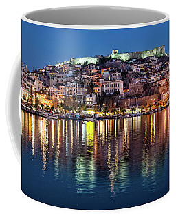 Kavala Town At Night Coffee Mug