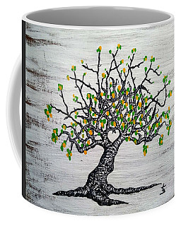 Coffee Mug featuring the drawing Kayaker Love Tree Art by Aaron Bombalicki