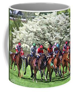 Keeneland Down The Stretch Coffee Mug