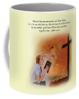 Keeps My Commandments Coffee Mug