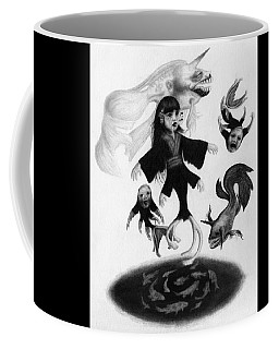 Keiko Among The Koi - Artwork Coffee Mug