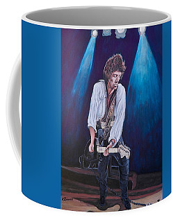 Coffee Mug featuring the painting Keith Richards by Tom Roderick