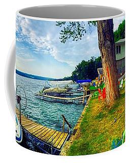 Keuka Lake Mornings Panorama Coffee Mug