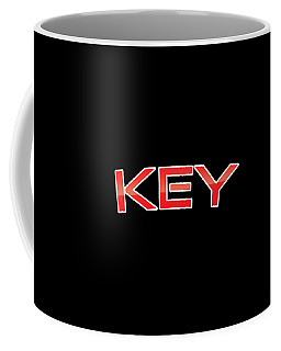 Coffee Mug featuring the digital art Key by TintoDesigns