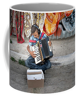 Kid Playing Accordeon Coffee Mug
