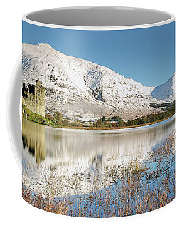 Coffee Mug featuring the photograph Kilchurn Castle - Loch Awe - Winter Morning by Grant Glendinning